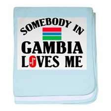 Somebody In Gambia baby blanket