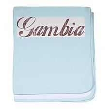 Vintage Gambia baby blanket