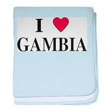 I Love Gambia baby blanket