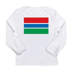 Gambia Flag Long Sleeve Infant T-Shirt