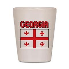 Georgia Flag Shot Glass