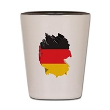 3D Map Of Germany Shot Glass