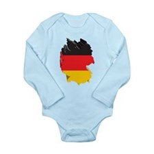 3D Map Of Germany Long Sleeve Infant Bodysuit