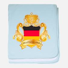 Gold Deutschland baby blanket