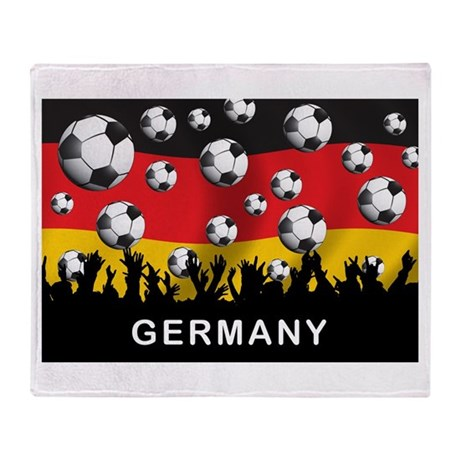 Germany Football Throw Blanket