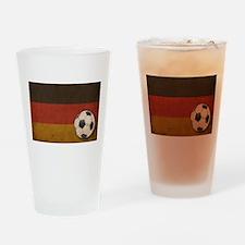 Vintage Germany Football Pint Glass