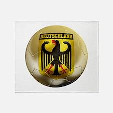 Deutschland Football Throw Blanket