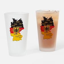 Germany Map Pint Glass