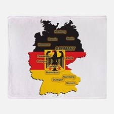 Germany Map Throw Blanket
