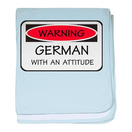 Attitude German baby blanket
