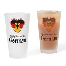 Happily Married German Pint Glass