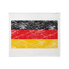 Vintage Germany Flag Throw Blanket