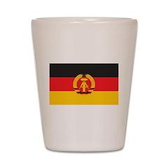 East Germany Flag Shot Glass