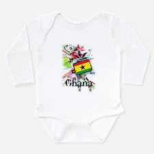 Flower Ghana Long Sleeve Infant Bodysuit