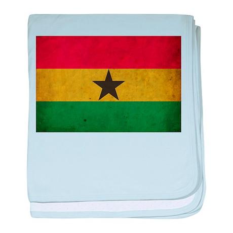 Vintage Ghana Flag baby blanket