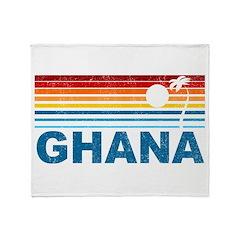 Retro Palm Tree Ghana Throw Blanket