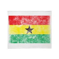 Vintage Ghana Flag Throw Blanket