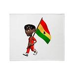 3D Ghana Throw Blanket