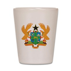 Ghana Coat Of Arms Shot Glass