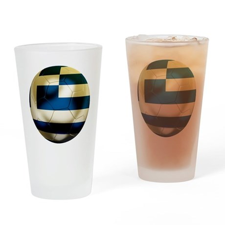Greece Football Pint Glass