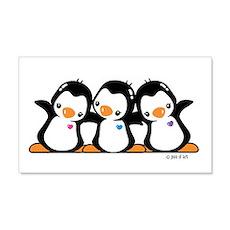 Cute Penguins 22x14 Wall Peel