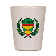 Stylized Grenada Shot Glass