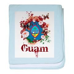 Butterfly Guam baby blanket