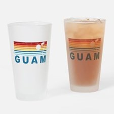 Retro Palm Tree Guam Pint Glass