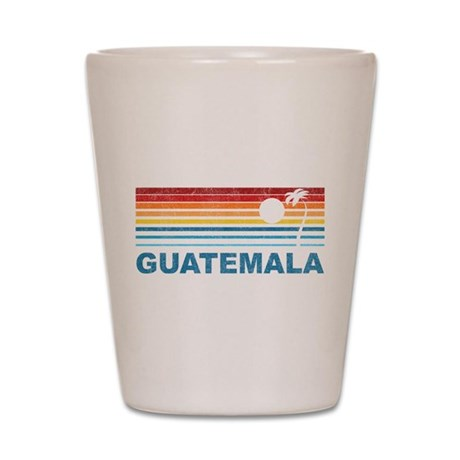 Retro Guatemala Palm Tree Shot Glass