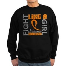 Fight Like a Girl Leukemia Sweatshirt