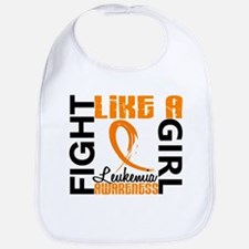 Licensed Fight Like a Girl 3.3 Leukemia Bib