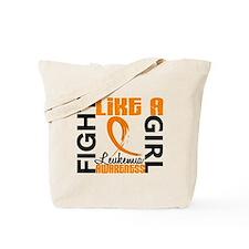 Licensed Fight Like a Girl 3.3 Leukemia Tote Bag