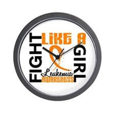 Licensed Fight Like a Girl 3.3 Leukemia Wall Clock