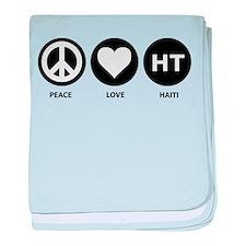 Peace Love Haiti baby blanket