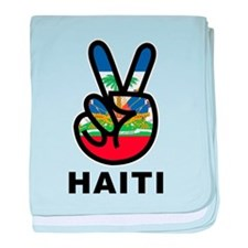 Peace Haiti baby blanket