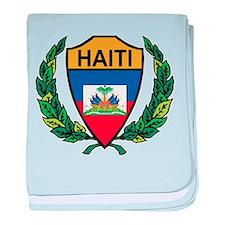 Stylized Haiti baby blanket