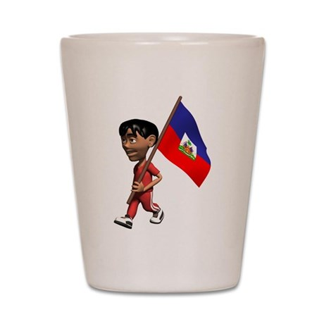 3D Haiti Shot Glass