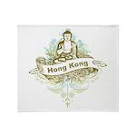 Buddha Hong Kong Throw Blanket
