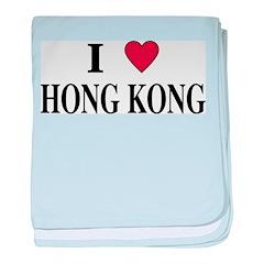 I Love Hong Kong baby blanket