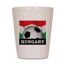 Hungary Football Shot Glass