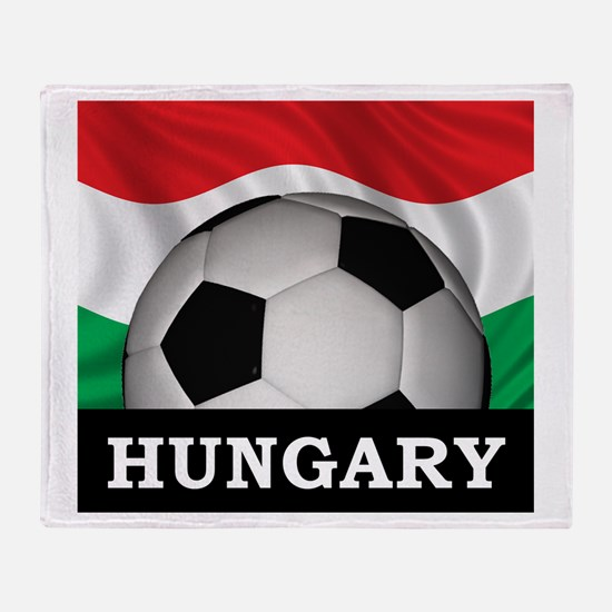 Hungary Football Throw Blanket