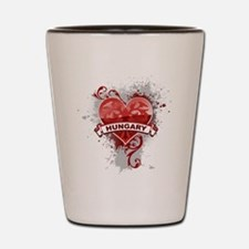 Heart Hungary Shot Glass