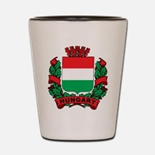 Stylized Hungary Crest Shot Glass