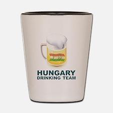 Hungary Drinking Team Shot Glass