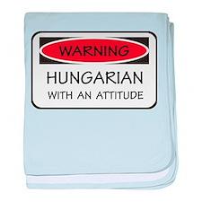 Attitude Hungarian baby blanket