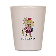 Cartoon Iceland Shot Glass
