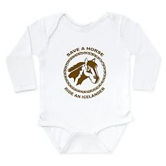Ride An Icelander Long Sleeve Infant Bodysuit