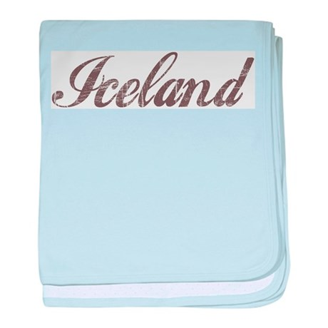 Vintage Iceland baby blanket