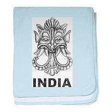 Vintage India baby blanket