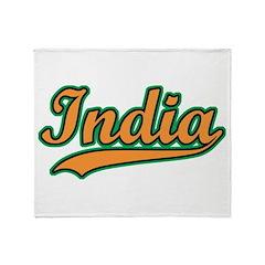 Retro India Throw Blanket